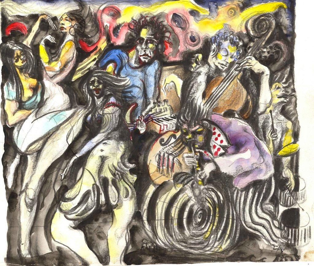 Danseuses et musiciens